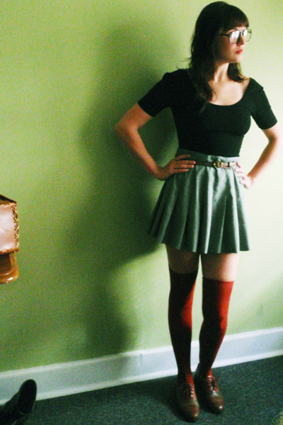 American Apparel dress - skirt - American Apparel tights - shoes