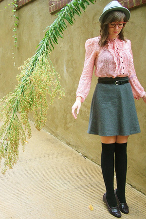 skirt - belt - Marc by Marc Jacobs blouse - tights