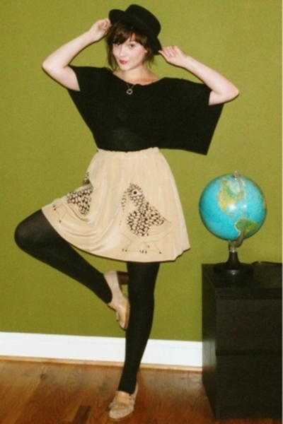 Corey Lynn Calter skirt - top - tights - shoes - hat