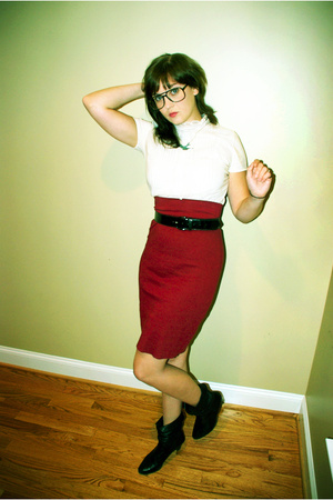 American Apparel skirt - belt - shirt -