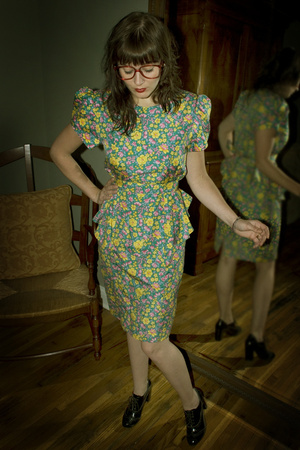 Snowshoe Vintage dress - forever 21 socks - vintage glasses