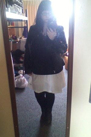 black G H Bass boots - black Roz & Ali jacket - black Nine West leggings