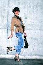 bronze H&M blouse
