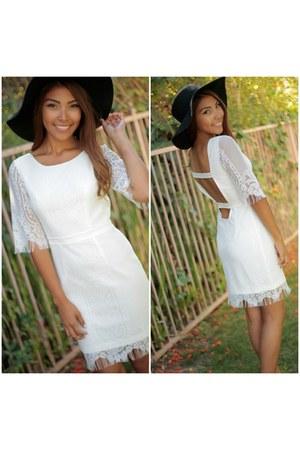 white SBH dress