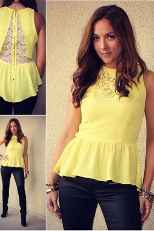 light yellow MS top