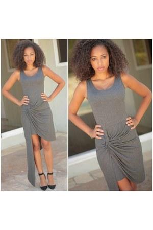 charcoal gray dress