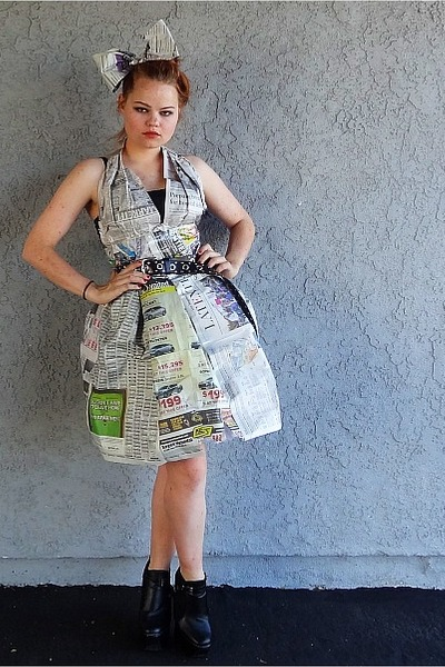 newspaper Self Made dress