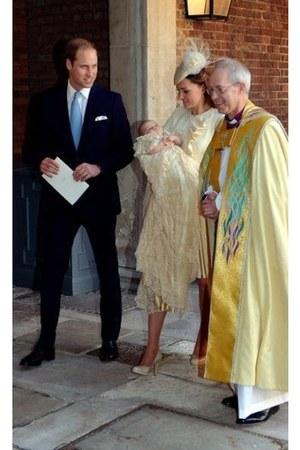 cream ruffled Alexander McQueen dress
