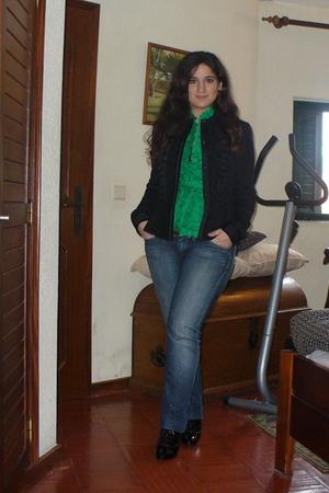 Zara jacket - blouse - Zara top - Pepe Jeans jeans - Zara shoes