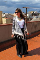 navy Fashion Pills cardigan - black H&M skirt