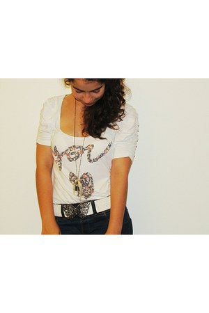 butterfly belt Stradivarius belt - Zara jeans - Bershka shirt