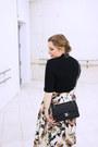 Black-zara-boots-black-chanel-bag-black-zara-top-beige-zara-skirt
