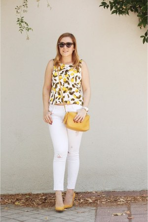 Zara top - Lacambra bag - Zara pants - Mango pumps