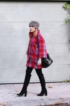 Zara boots - liu jo coat - Zara bag