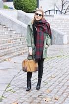 lintervalle boots - Sheinside coat - calgary scarf - loewe bag