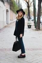 Bimba y Lola hat - Kiabi blazer - nice things shirt - Zara bag