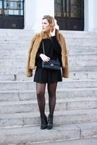 lintervalle boots - H&M coat - Chanel bag - Zara jumper