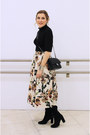 Black-zara-boots-black-chanel-bag-black-zara-top-beige-zara-skirt