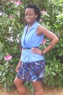 Black-shoes-black-belt-ruffled-blue-white-purple-skirt-blue-blouse