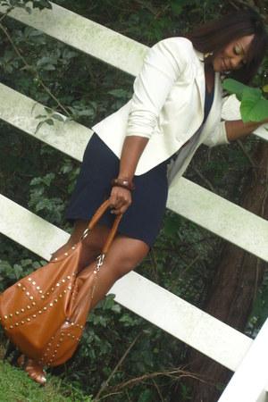 dress Express dress - blazer H&M blazer - sandals GoJane heels