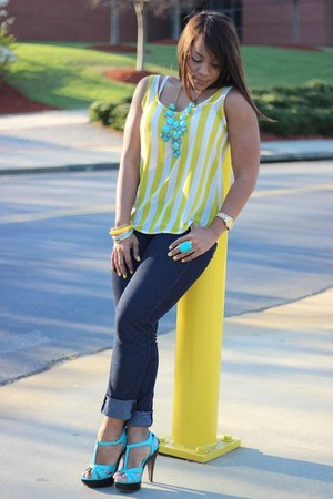 yellow Forever21 top