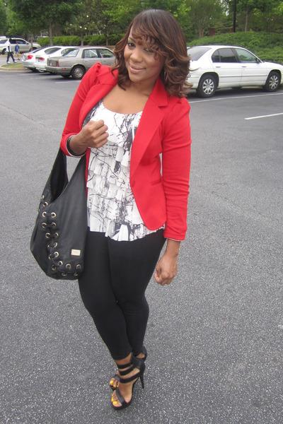 Leggings Red Blazer H&m