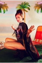 vintage Saltwater Gypsy cape - sgt pepper Wildfox x Jeffrey Campbell boots