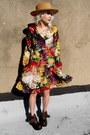 Floral-some-velvet-vintage-dress