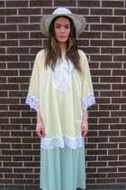 light yellow lace some velvet vintage shirt