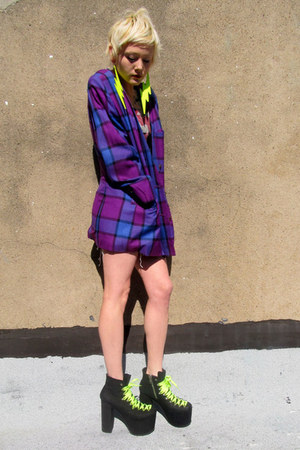 deep purple checkered some velvet vintage jacket