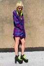 Deep-purple-checkered-some-velvet-vintage-jacket