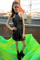 halter some velvet vintage dress