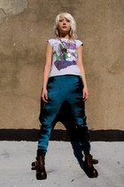 tie dye some velvet vintage leggings