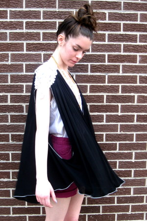 black beaded some velvet vintage cape