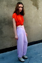 light purple lilac some velvet vintage pants