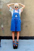 blue mickey mouse some velvet vintage shorts
