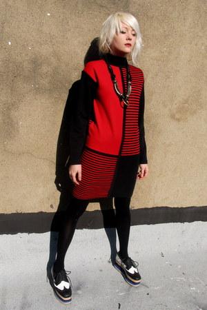striped some velvet vintage dress