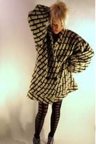 geometric some velvet vintage sweater