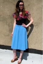 sky blue vintage lanvin skirt