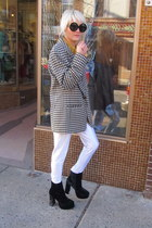 white checkered Pendleton blazer
