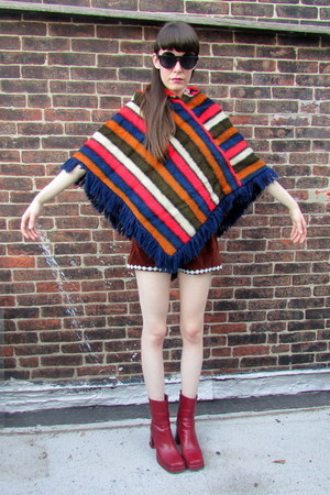 striped some velvet vintage cape