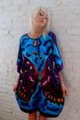 Aquamarine-butterfly-some-velvet-vintage-dress