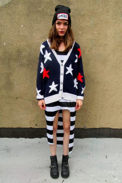 navy star some velvet vintage sweater