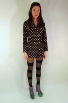 polka dot some velvet vintage jacket