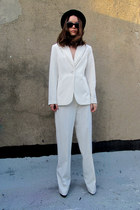 white white some velvet vintage suit