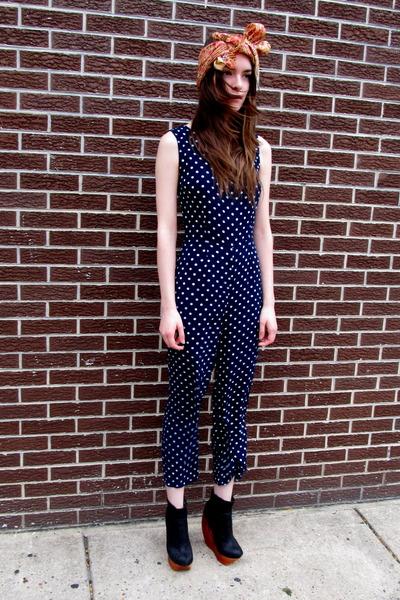 polka dot some velvet vintage jumper
