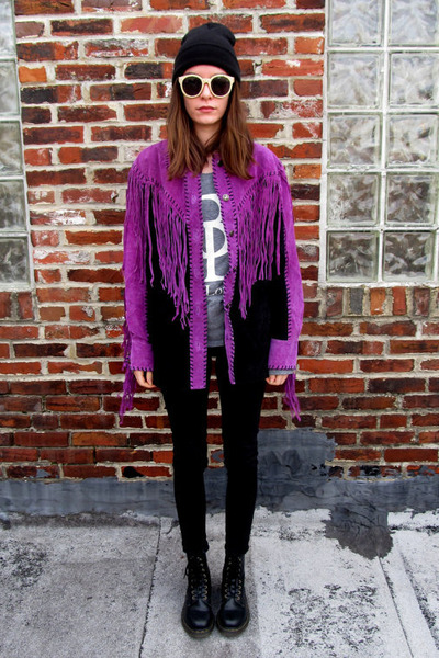 purple leather Bob Mackie jacket