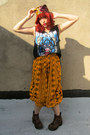 Mustard-cropped-some-velvet-vintage-pants