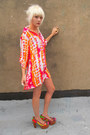 Light-orange-tie-dye-some-velvet-vintage-dress