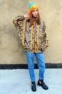 Bronze-leopard-some-velvet-vintage-jacket